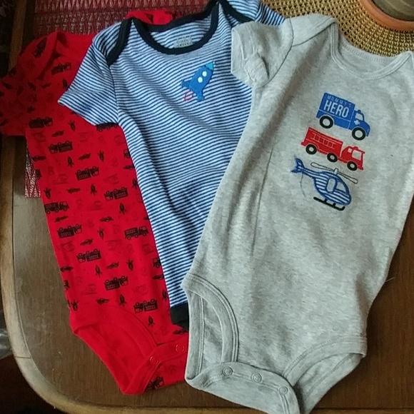 Child of Mine Carters Preemie Baby Boy Bodysuits Mommys Hero 3pc